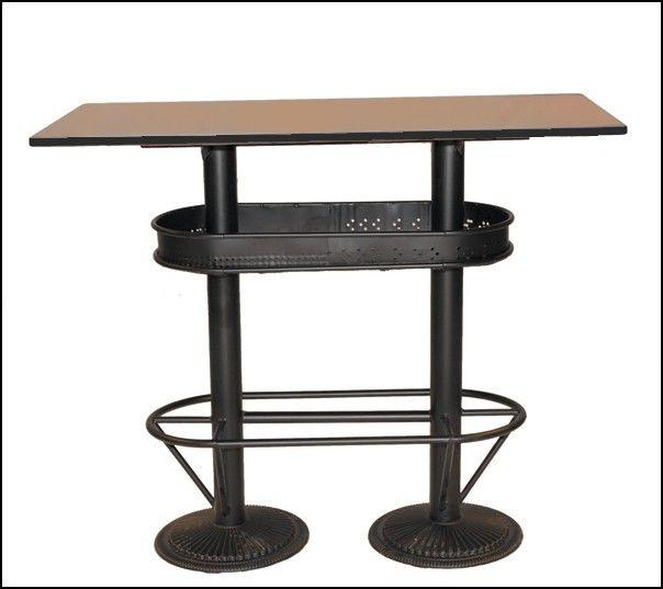 table haute industrielle mange debout bistrot pas cher solide pour les bars bistrot sur mathi