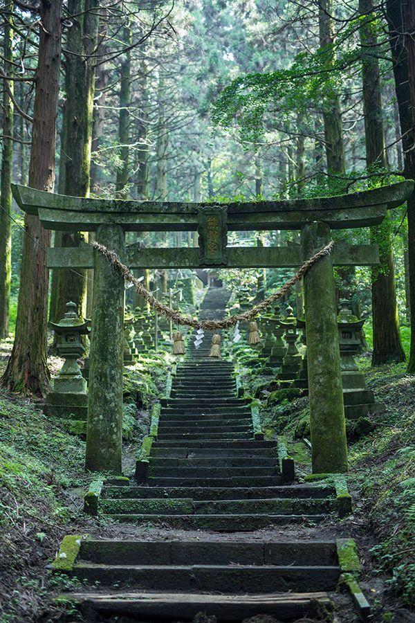 Torii gate in kumamoto prefecture - Japan