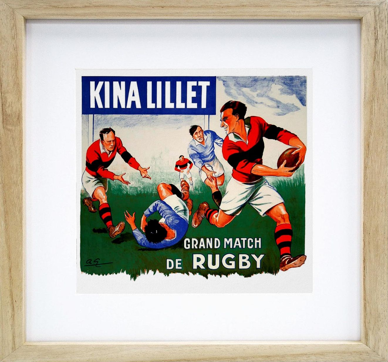 Grand Match De Rugby Vintage Rugby Print Zazzle Com Rugby Art Poster Prints Rugby Vintage