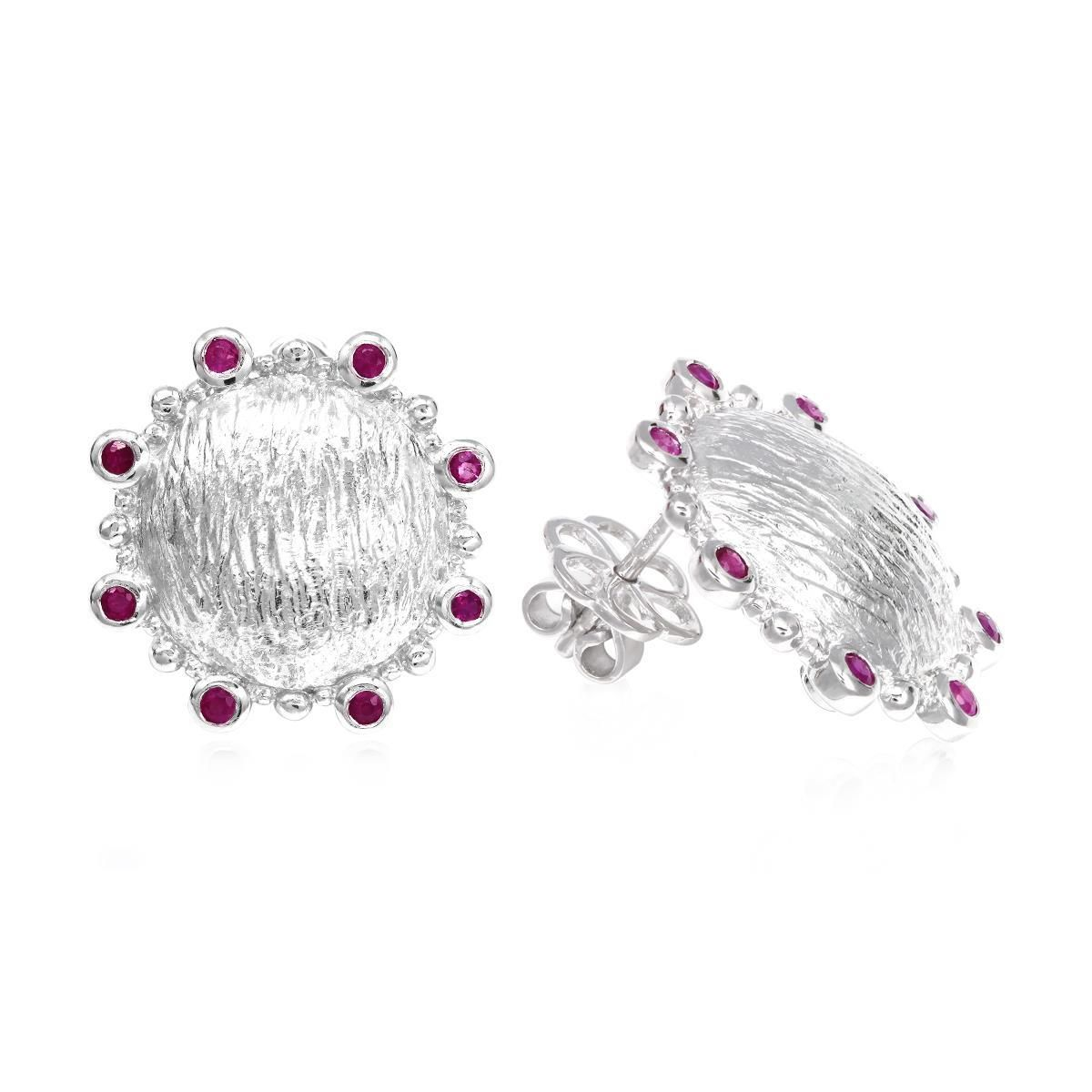 This Red Ruby Earring  is the most appropriate gift for a special occasion like Valentine's Day. Let your lady be impressed by the choice of your color and design. Buy this color of love, and show her how much she means to you. This red rhodium Earring  can be the most idealistic way to express your love for her.