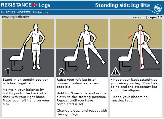 standing side leg lifts | Legs | Pinterest | Leg lifts ...