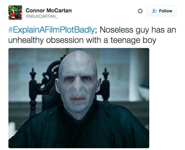 21 Tweets From Explain A Film Plot Badly That Will Make You Laugh Explain A Film Plot Badly Harry Potter Funny Harry Potter