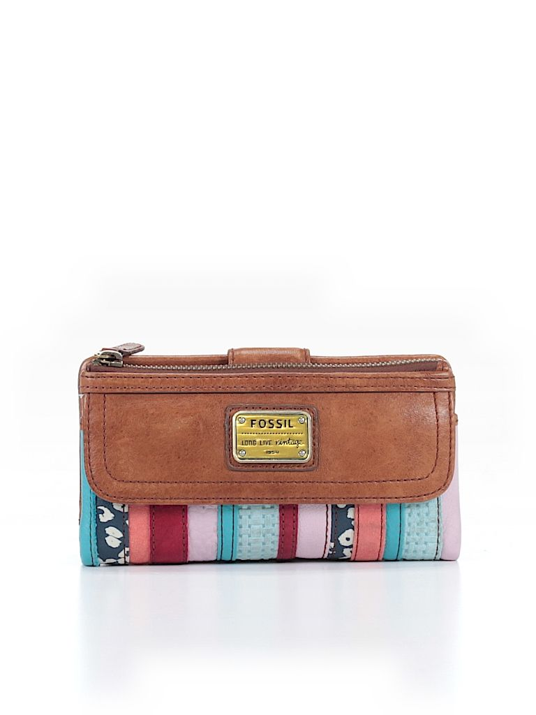 4e839123cdaa Esta cartera es la marca fossil. La cartera es de colores. También tiene  cuero marrón.