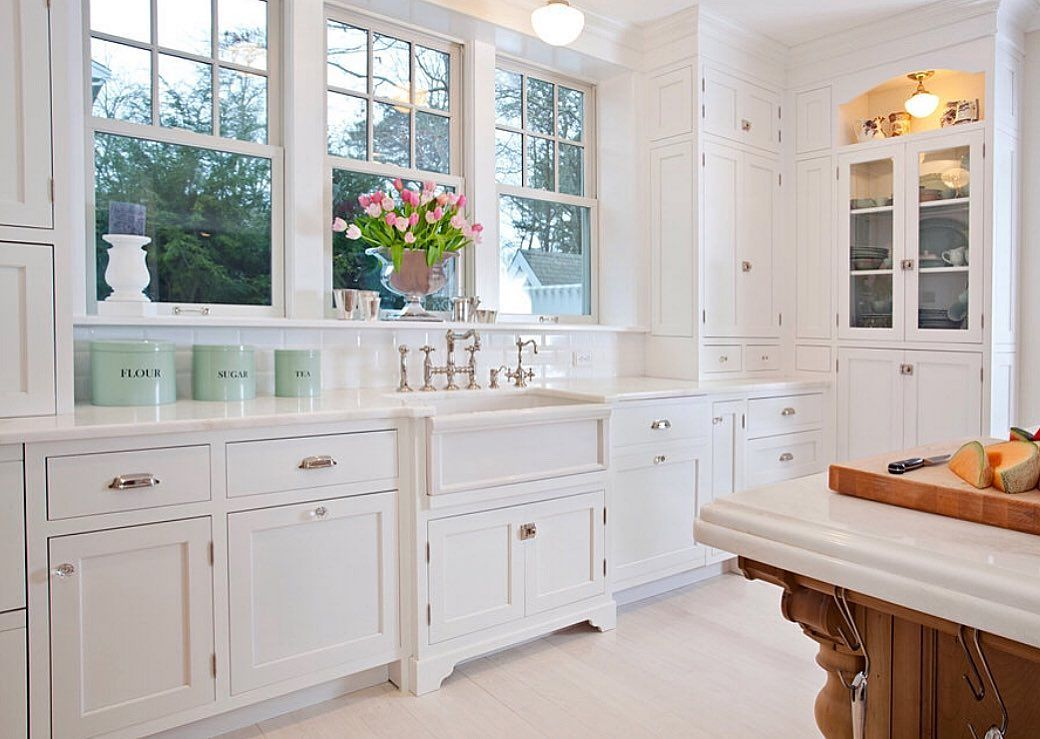 White Inset Cabinetry With Exposed Hinges Traditional Capecod Homedesign Remodel Newengland Home Inset Cabinetry Custom Kitchens Kitchen Plans