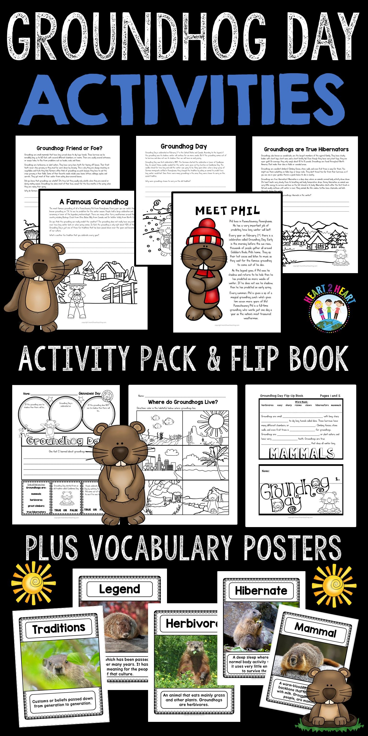 Groundhog Day Activity Pack With Passages Activities And