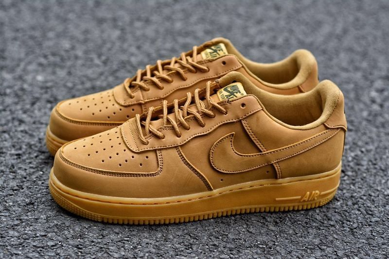 the latest c56b7 9bc72 Suede Nike Air Force One, Nike Air Force1 Air Force One Low Wheat Color Af1  Women And Men Sneakers. 888853-200 Super Deals
