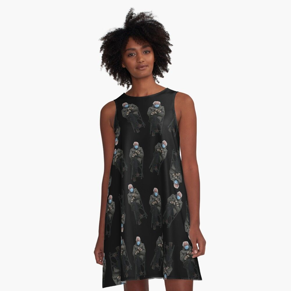 Get My Art Printed On Awesome Products Support Me At Redbubble Rbandme Https Www Redbubble Com I Dress Bernie Sanders Ina In 2021 A Line Dress Woven Dress Dresses