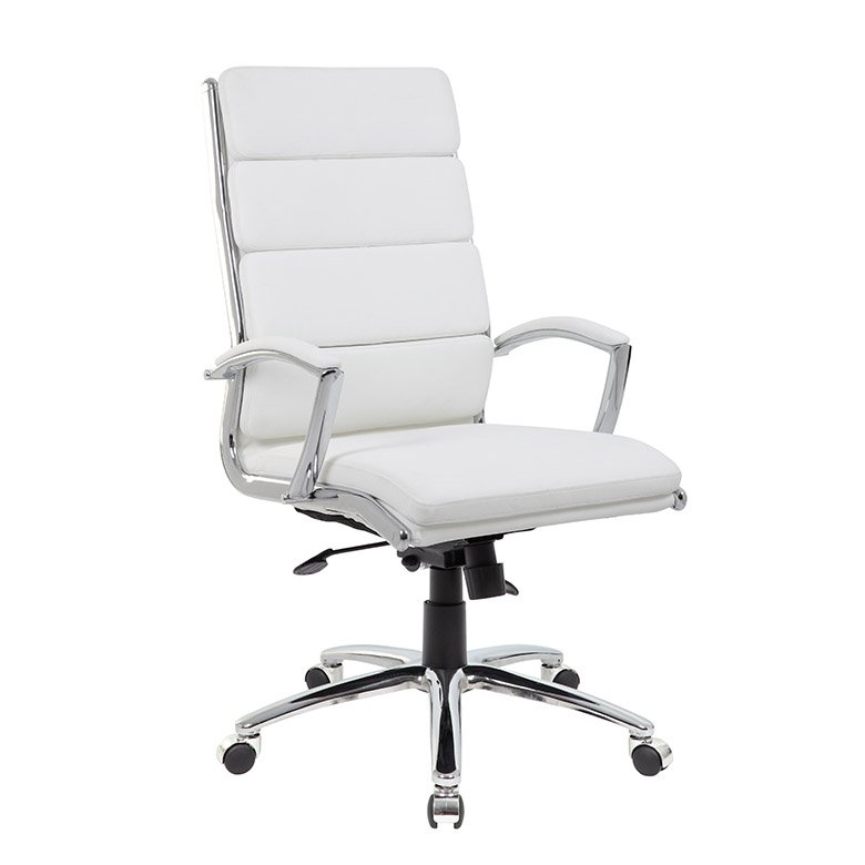 Modern White Office Chair With Padded Armrest Rc Willey Furniture Store In 2020 White Office Chair Office Chair Modern Office Chair
