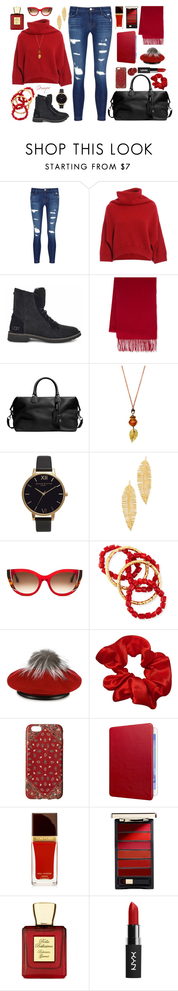 """""""Weekending It!"""" by gemique ❤ liked on Polyvore featuring J Brand, Brunello Cucinelli, UGG, Portolano, Coach, Olivia Burton, Kenneth Jay Lane, Thierry Lasry, NEST Jewelry and Eugenia Kim"""