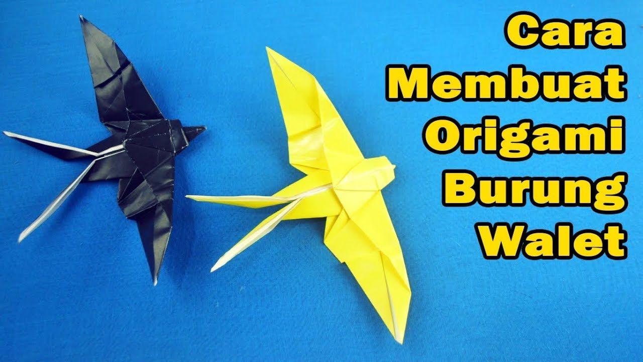 Origami Swallow Burung Walet Origami Burung