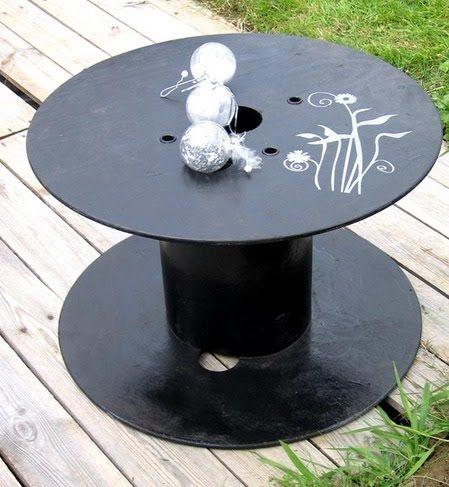 Para el exterior sillones de palets y mesas de bobina de for Reciclado de palets sillones