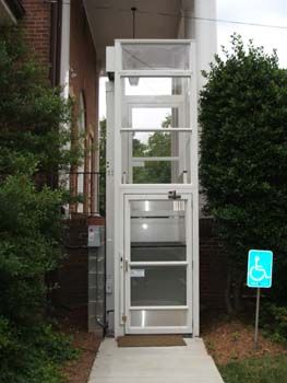 Outdoor Lift For Wheelchair Users And Minimally Mobile Individuals Who Struggle With Stairs