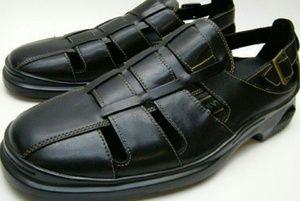 VTG Cole Haan Fisherman Black Leather Sandals 115