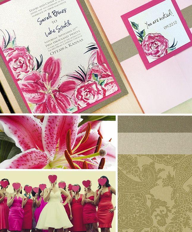 stargazing lilies wedding ideas | Stargazer Lily Wedding Invitations ...