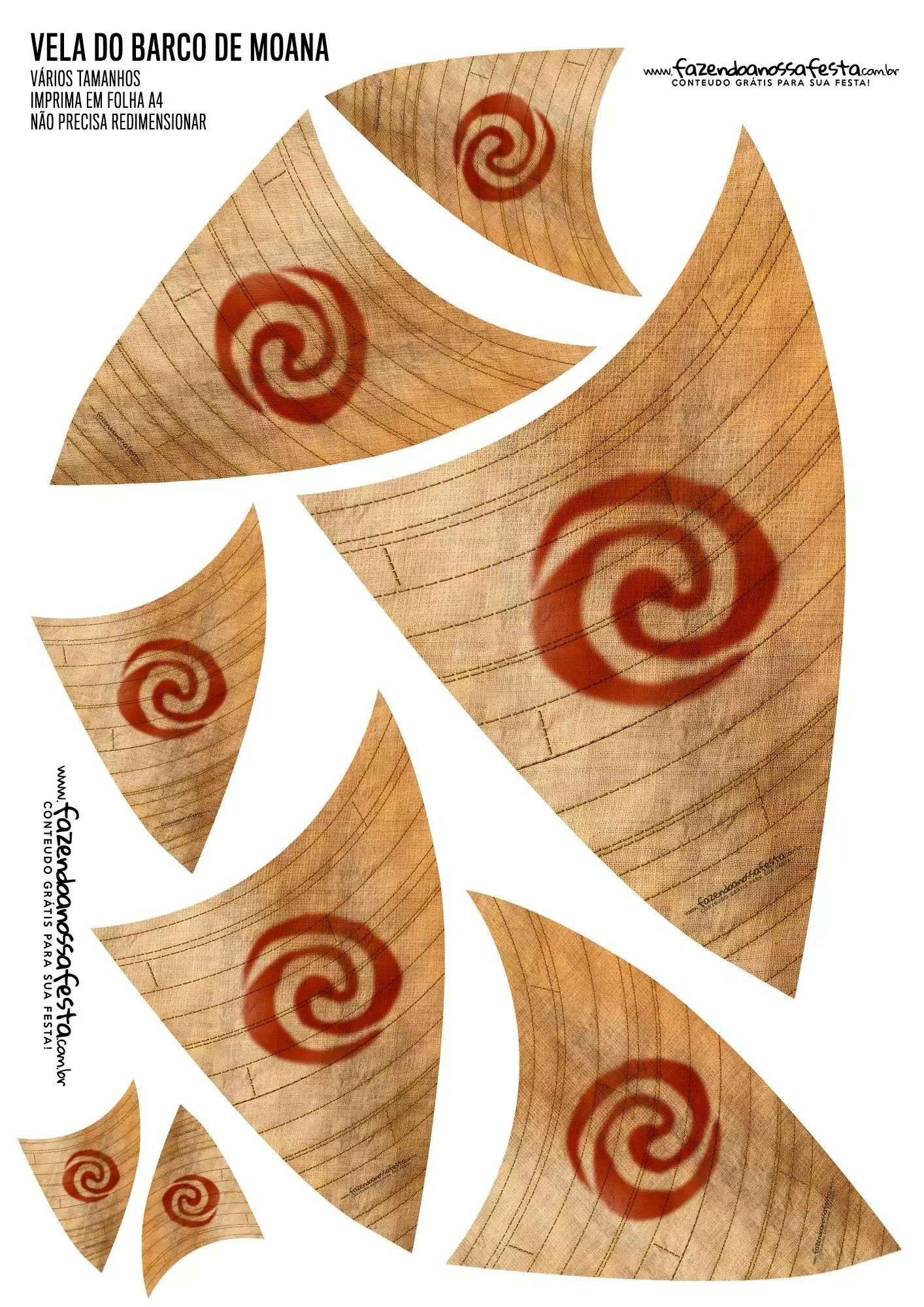 Inventive image within moana sail printable