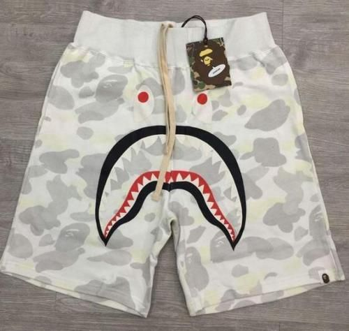 Fashion boy Shark Pattern Shorts Trend Stitching Drawstring younth Shorts
