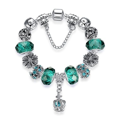 18e0eb6e6 Mother's Day 925 Spacer Silver Heart Charm Bracelet Fit Original Bracelet  For Women Diy Crystal&glass Beads Authentic Jewelry