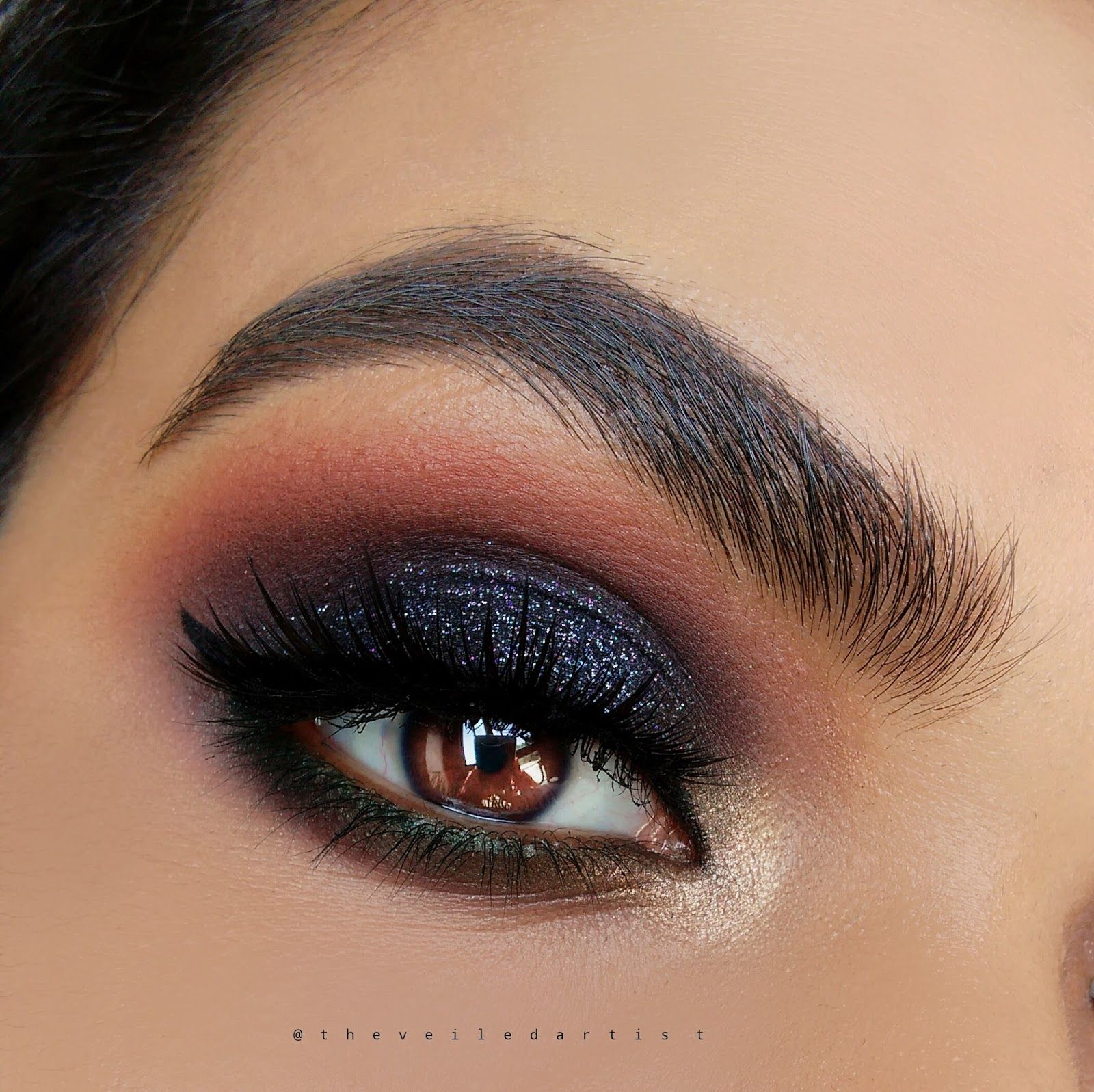 Image result for gold and black eyeshadow look Dark