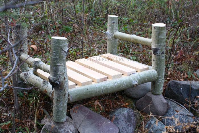 Rustic Log Bed Bark Newborn Photo Prop