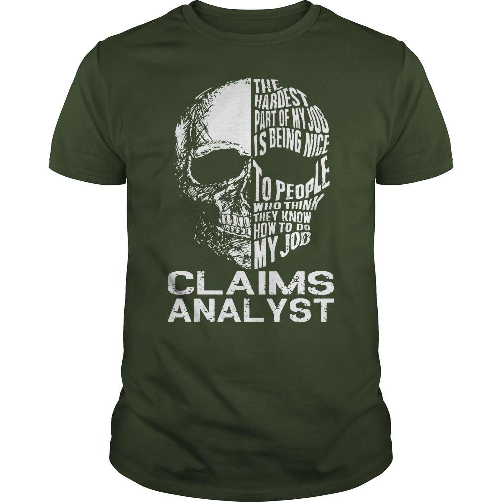 Claims analyst skull job buy personalised tshirt online