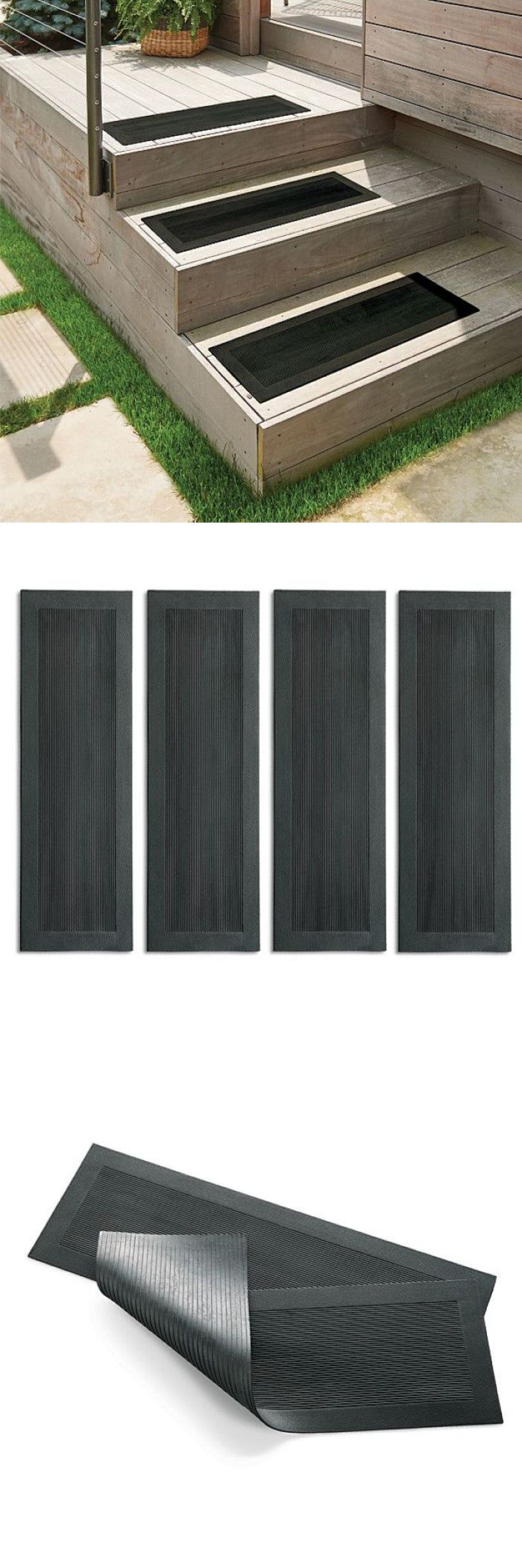Best Stair Treads 175517 Rubber Stair Treads Set Of 4 Textured 640 x 480