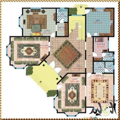 اروع تصاميم صور فلل دورين جميلة بالصور 2017 تصاميم معمارية الوليد My House Plans Home Design Floor Plans Craftsman Floor Plans