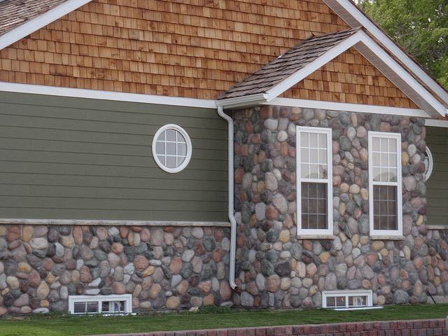 River rock mountain stream rock veneer house and for Rock for house exterior