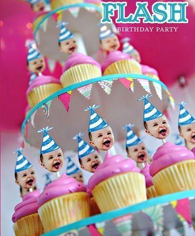 cupcakes para ao con foto de bebe httpxn fiestas de