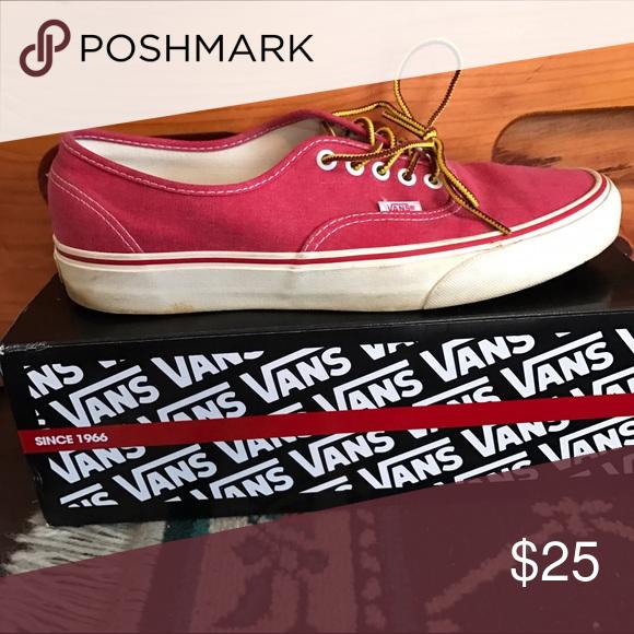 Red Vans Red Vans great shape 10.5 Vans Shoes Sneakers