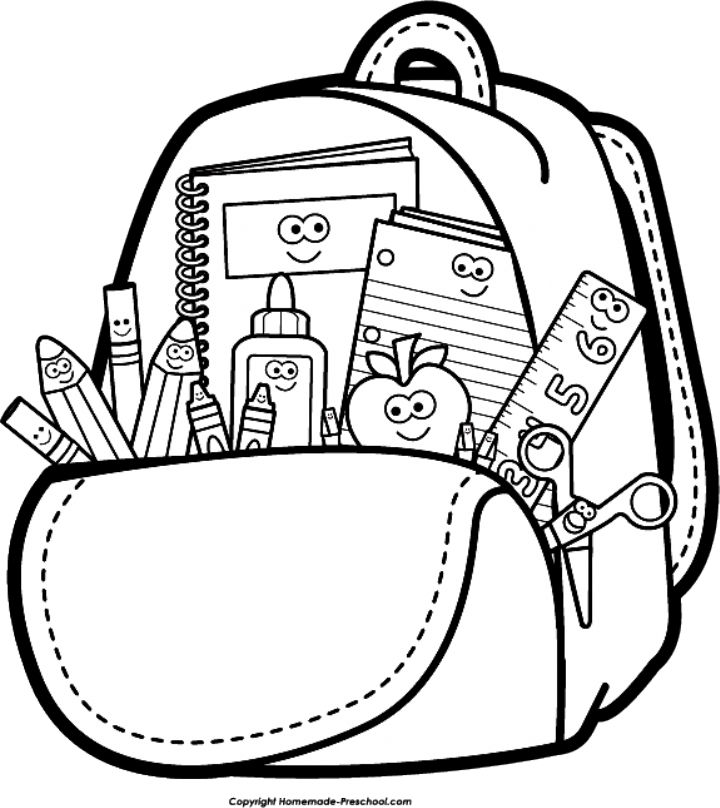 Free Back To School Clipart Good School Coloring Pages School Clipart Back To School Clipart