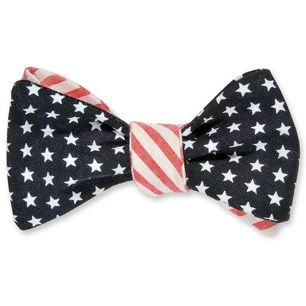 High Cotton Stars and Stripes Reversible Bow Tie