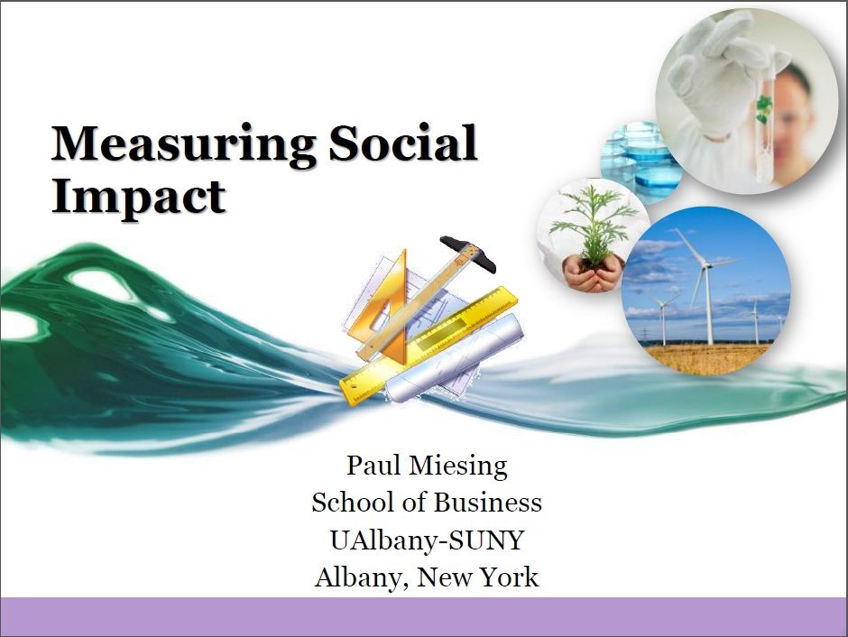 7 Measuring Social Impact Organizational Structure Organizational Social Entrepreneurship