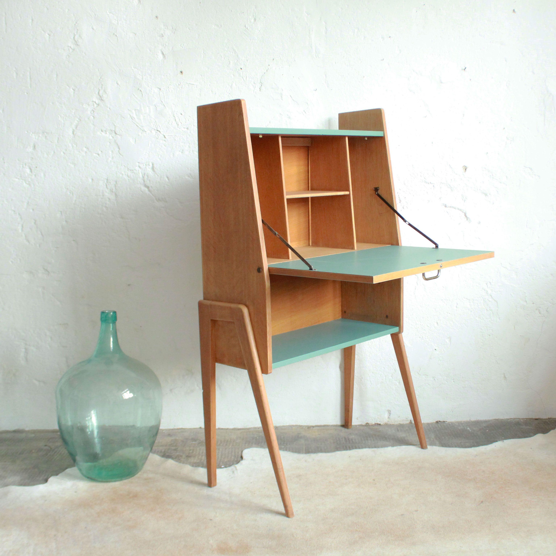 secr taire bois vintage b204 for my home sweet home. Black Bedroom Furniture Sets. Home Design Ideas