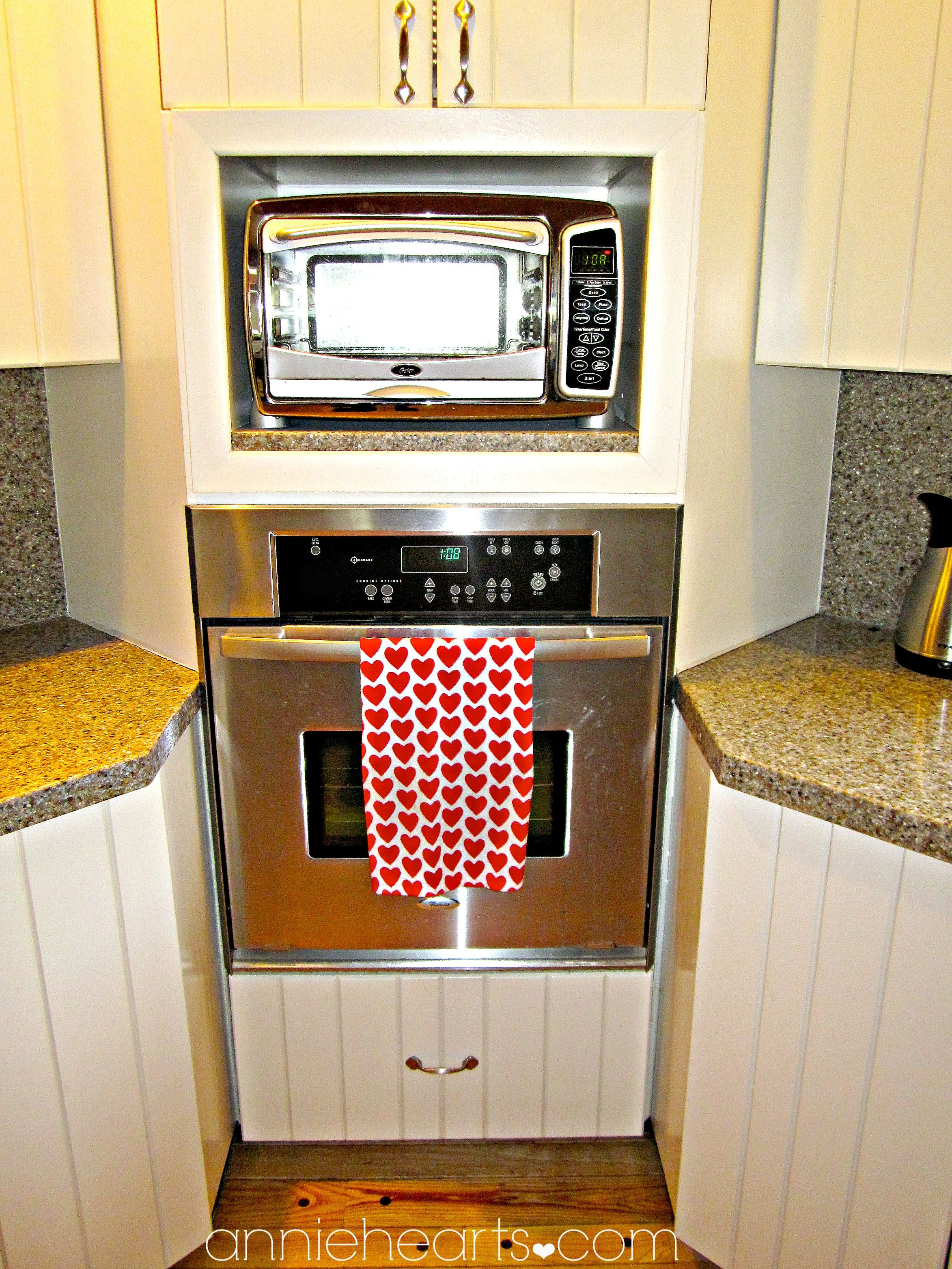 Use Leftover Granite Countertop To Put Under Microwave