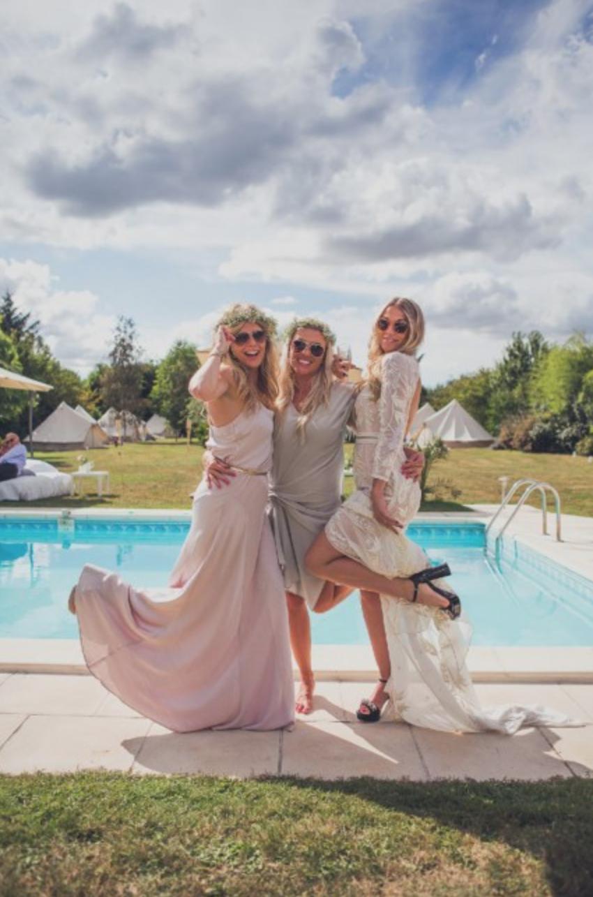 Hermione de Paula | Pippa and Jon's Wedding | #friends #pool #party #fun #wedding #hermionedepaula #hdpbridal