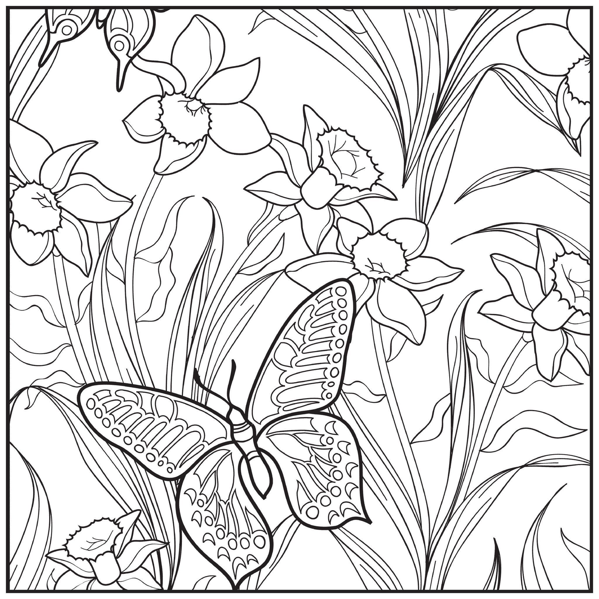 Garden Coloring Pages Garden Coloring Pages Adult Coloring