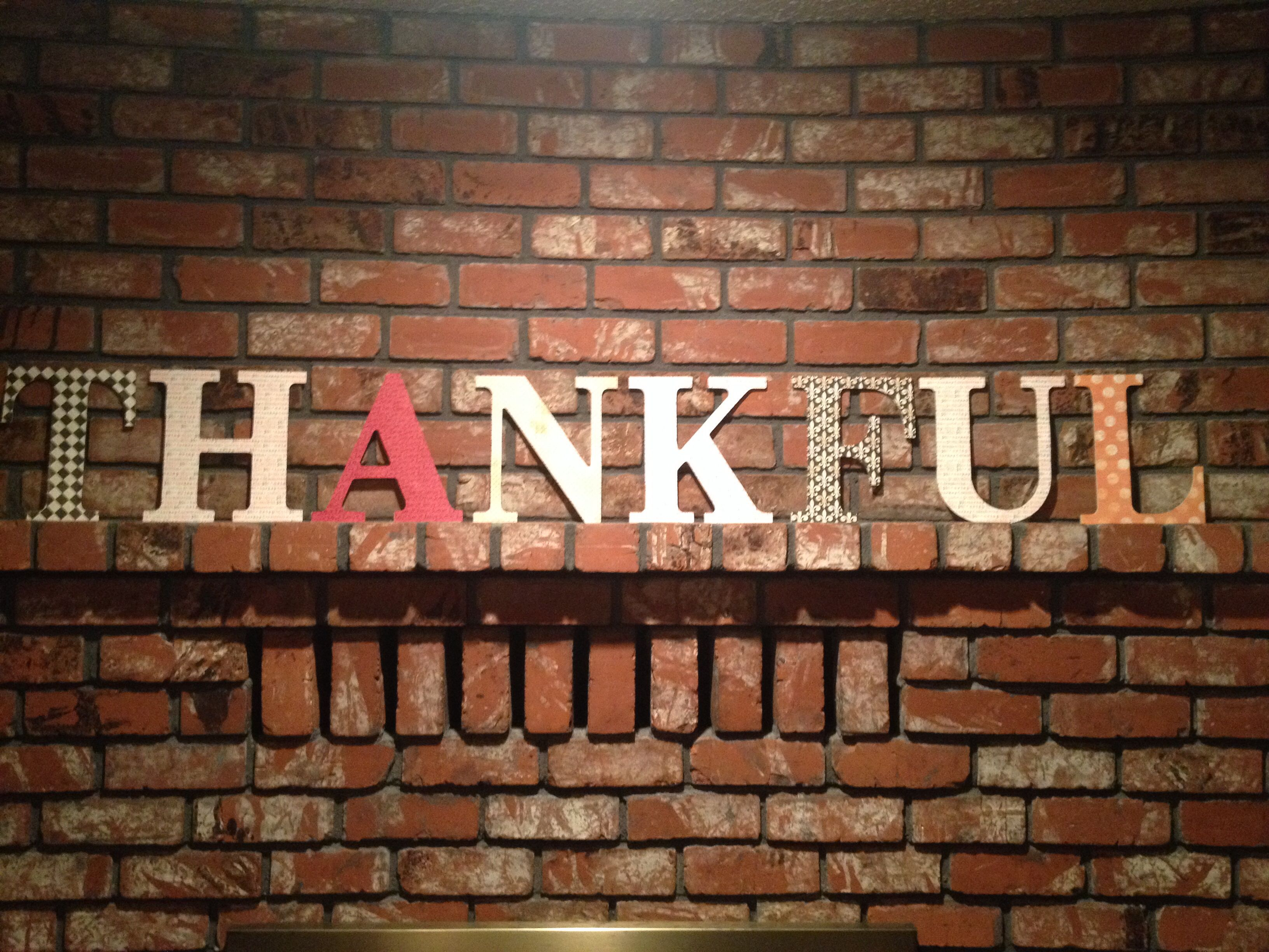 How to glue scrapbook paper to wood letters -  Thankful Letters 20 Project That Took 1 Hour I Bought The Wooden
