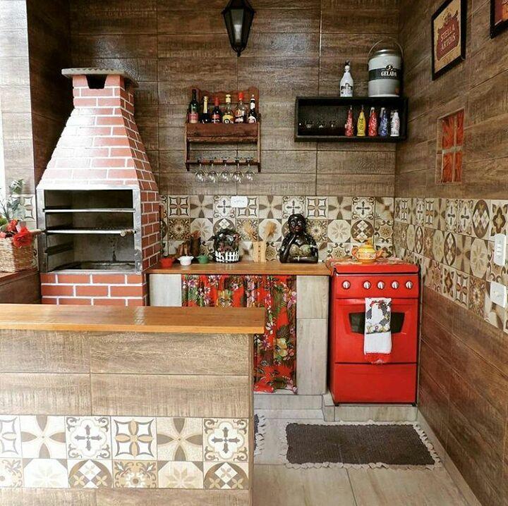 """Small And Cozy Kitchen Ideias De Fim De Semana: """"Espaço Gourmet Simples E Lindo Na Casa Da @maisqueamelias"""