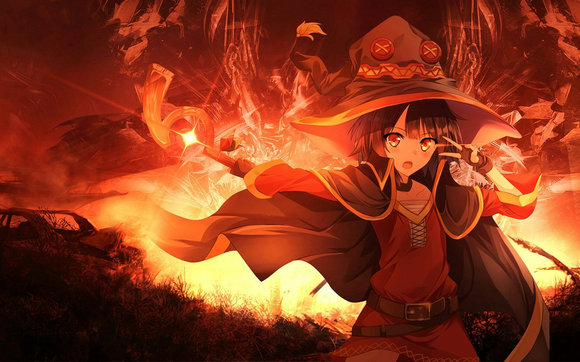 Megumin (With images) Anime witch, Anime wallpaper