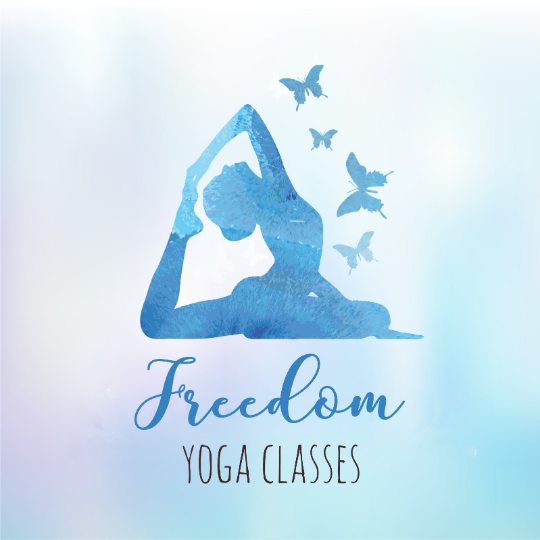 Logo Design Branding For A Freedom Yoga Classes Get In Touch For Custom And Unique Logo Designs London Projeto De Estudio De Ioga Logotipo Yoga Vetores