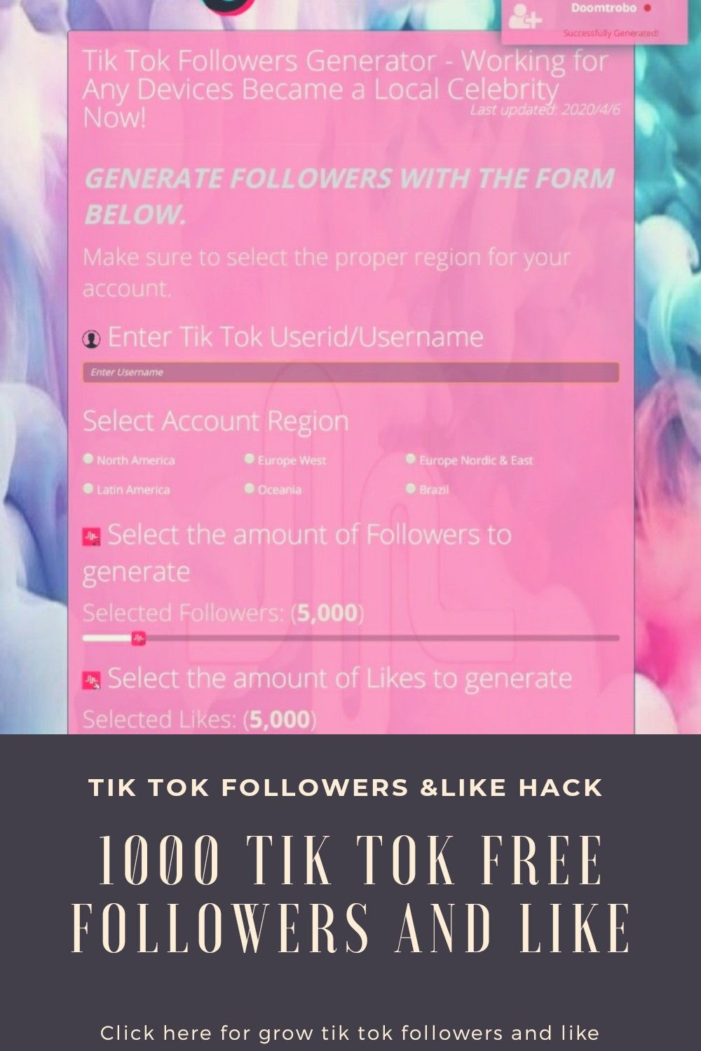 Get 1000 Tik Tok Followers And Like In Just One Click Overnight Beauty Hacks Beauty Hacks Video Beauty Tips For Hair