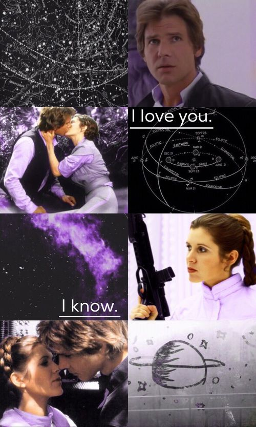 A New Hope Space Star Wars And Lockscreen Image Leia And Han