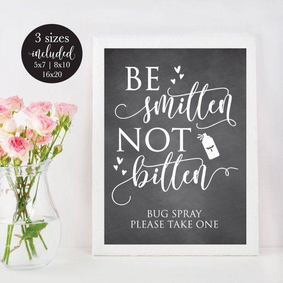 Outdoor Wedding Bathroom Ideas: Chalkboard Be Smitten Not Bitten Outdoor Bug Spray Summer
