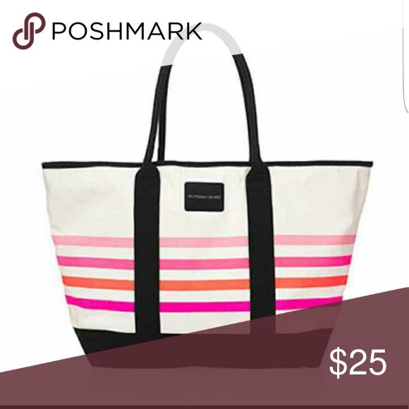 VS PINK TOTE NWT in plastic beach bag  50f8efefaa0d
