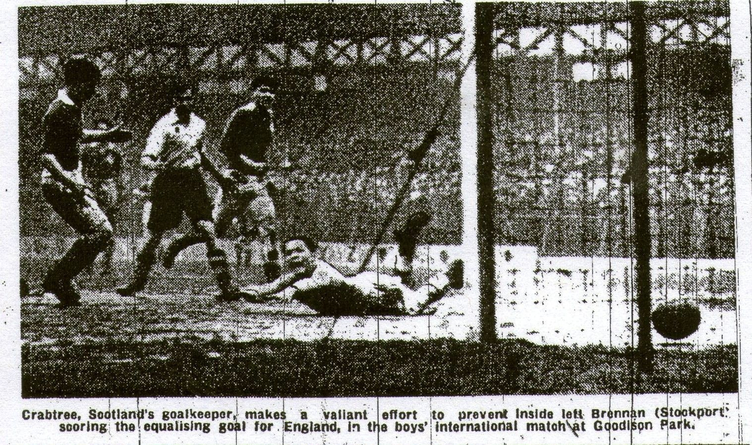 may 10 1947 schoolboys play at goodison park in front of