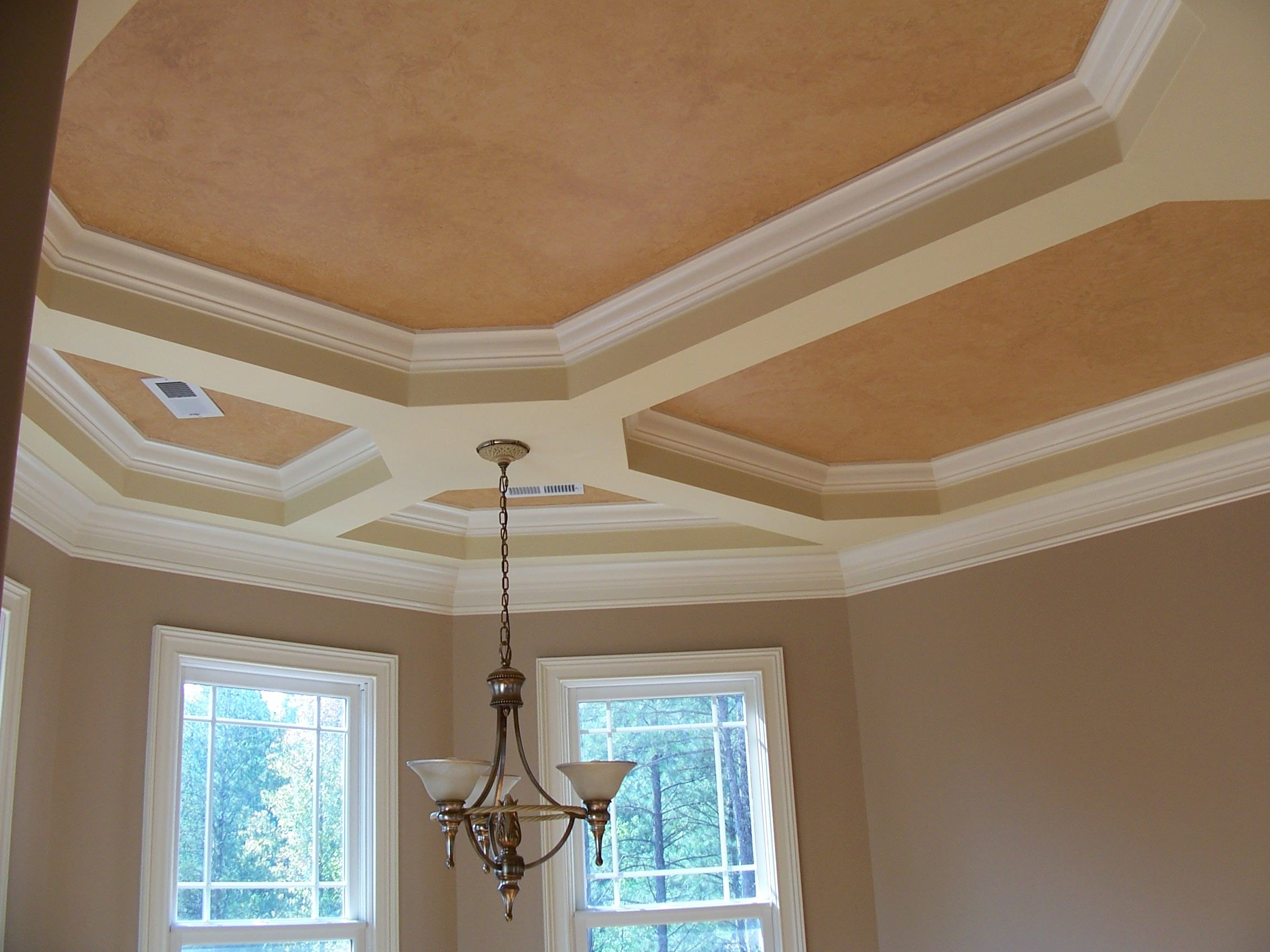 Bedroom ceiling paint ideas - 1000 Images About Tray Ceiling Ideas On Pinterest Stencils How