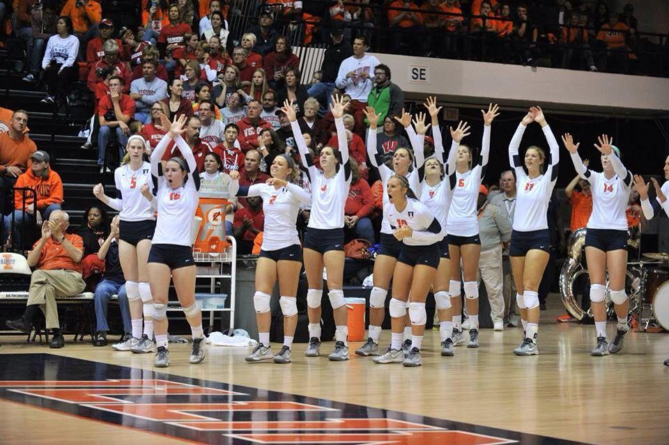Illinois volleyball Volleyball, Big ten, Sports