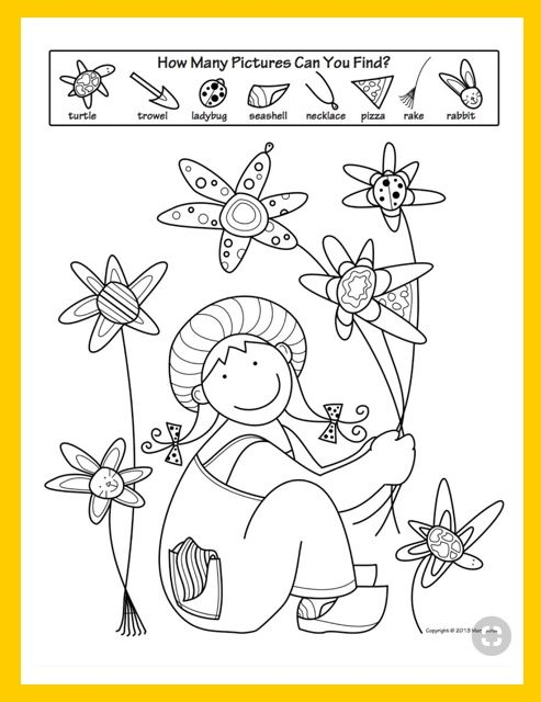 Spring Activity Coloring Pages   Spring activities, 5 s and Activities