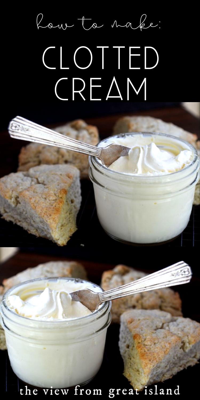 How To Make Clotted Cream Desserts Tea Recipes Food