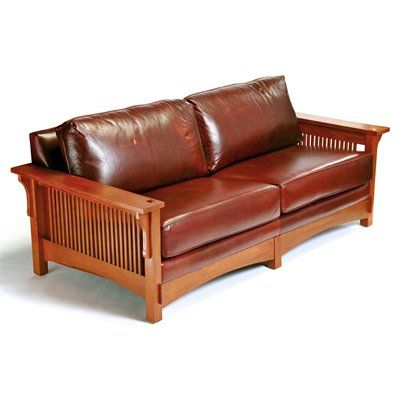 Arts & Crafts 9601 Mission Sofa, Cognac  Home Furniture Showroom is part of Craftsman style furniture -
